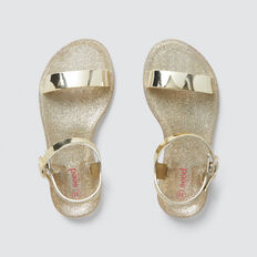 Single Strap Jelly Sandal  GOLD  hi-res