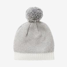 Honeycomb Knit Beanie  SLATE MARLE  hi-res