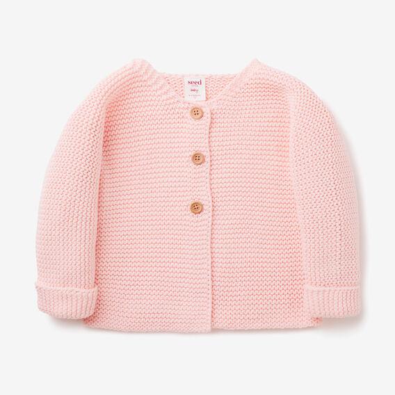 Chunky Knit Cardigan  SOFTEST PINK  hi-res