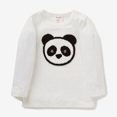 Panda Applique Tee  CANVAS  hi-res