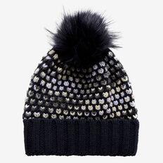 Bobble Knit Beanie  NAVY MULTI  hi-res