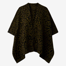 Ocelot Knit Poncho  KHAKI/BLACK  hi-res