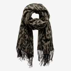 Lucy Ocelot Scarf  MILITARY OLIVE  hi-res