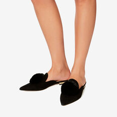 Sophia Pom Pom Flat  BLACK  hi-res