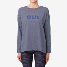 Oui Tee  NAVY STRIPE  hi-res