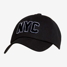 NYC Sports Cap  BLACK  hi-res