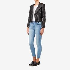 Leather Jacket  BLACK  hi-res