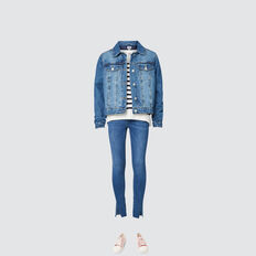 Quilted Denim Jacket  DUSTY BLUE  hi-res