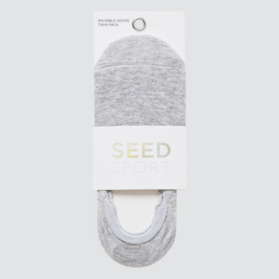 Invisible Twin Pack Socks  WHITE MULTI  hi-res