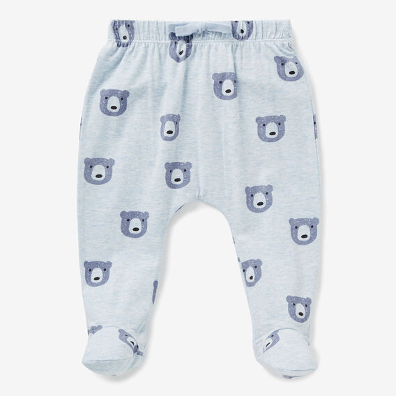 Bear Yardage Footed Legging  PACIFIC BLUE MARLE  hi-res