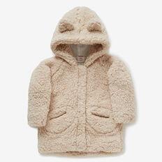Sherpa Zip Hoodie Jacket  CREAM  hi-res