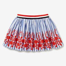 Floral Stripe Skirt  BLUE SKY  hi-res