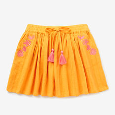 Embroidered Skirt  LIGHT MARIGOLD  hi-res