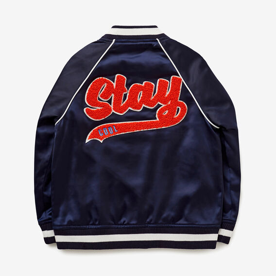 Embroidered Bomber Jacket  MIDNIGHT BLUE  hi-res