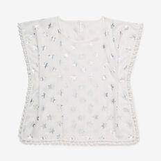 Foil Star Poncho  WHITE  hi-res