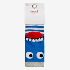 Big Mouth Monster Socks  BLUE  hi-res