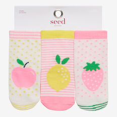 3 Pack Fruit Socks  BRIGHT  hi-res