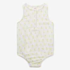 Pear Yardage Sleeveless Onesie  CITRUS YELLOW  hi-res