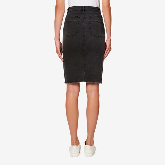 Denim Pencil Skirt  CHARCOAL DENIM  hi-res