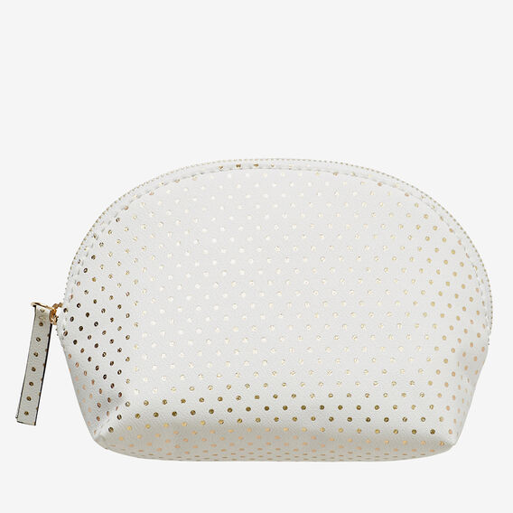 Half Moon Make Up Bag  WHITE  hi-res