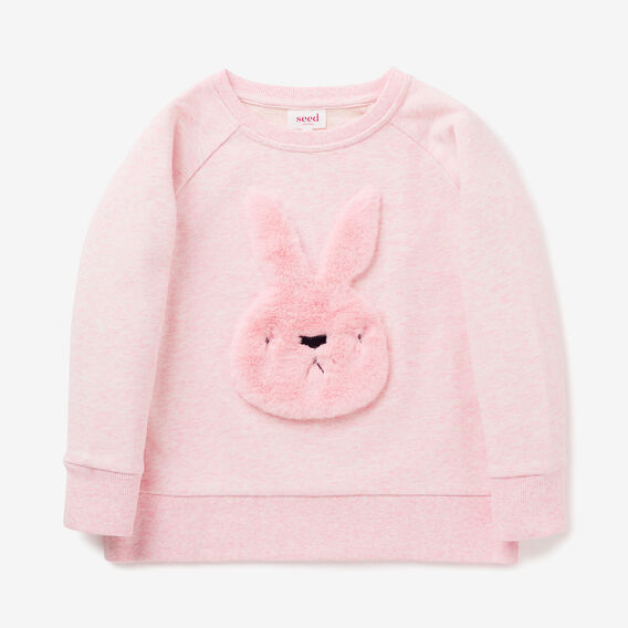 Fluffy Bunny Windcheater  ICE PINK MARLE  hi-res