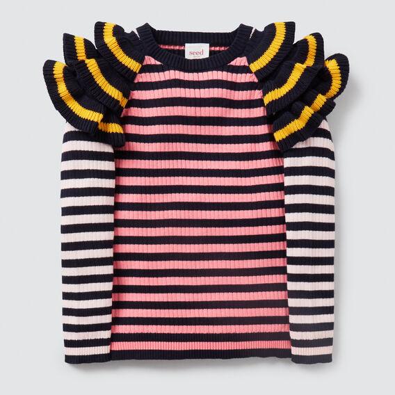 Stripe Frill Sweater  MULTI  hi-res