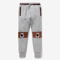 Novelty Bear Track Pant  GREY SPECKLE MARLE  hi-res