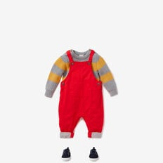 Jersey Lined Overalls  BRICK RED  hi-res