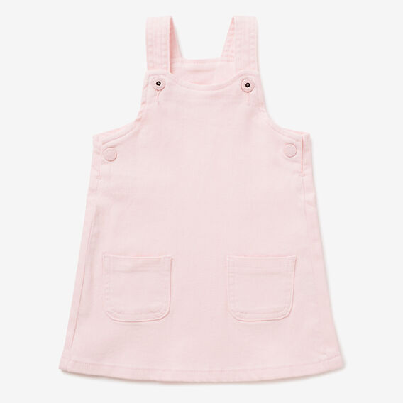 Denim Pinafore  ICE PINK  hi-res