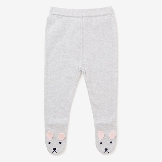 Knit Bunny Foot Legging  CLOUD  hi-res
