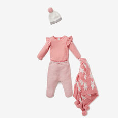 Speckle Knit Harem Pant  DUSTY PINK  hi-res