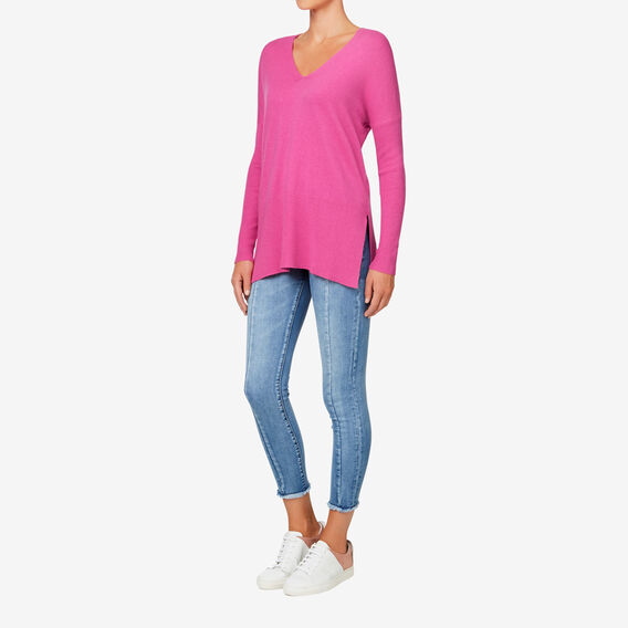 V-Neck Slouchy Sweater  ORCHID  hi-res