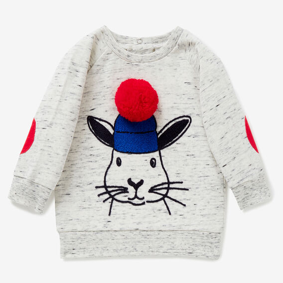 Pom Pom Bunny Sweater  VINTAGE SPACE DYE  hi-res