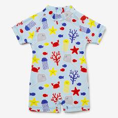 Coral Fish Yardage Rashie Suit  NORDIC BLUE  hi-res