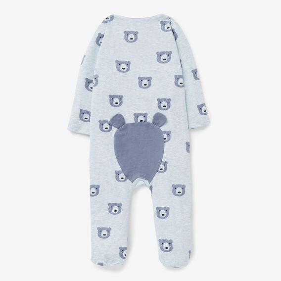 Bear Yardage Zipsuit  PACIFIC BLUE MARLE  hi-res