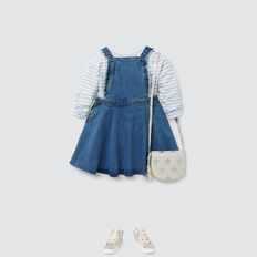 Denim Pinafore  WASHED BLUE  hi-res