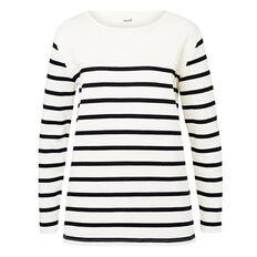 Stripe Terry Sweater  STRIPE  hi-res
