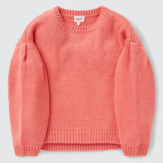 Pleat Sleeve Sweater  CORAL BLUSH  hi-res