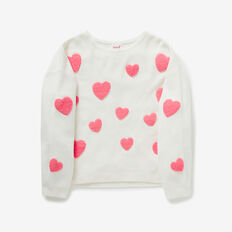 Chenille Heart Sweater  CANVAS  hi-res