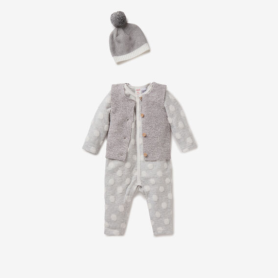 Speckle Knit Vest  CHARCOAL  hi-res