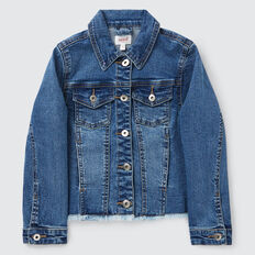 Rainbow Denim Jacket  WASHED BLUE  hi-res