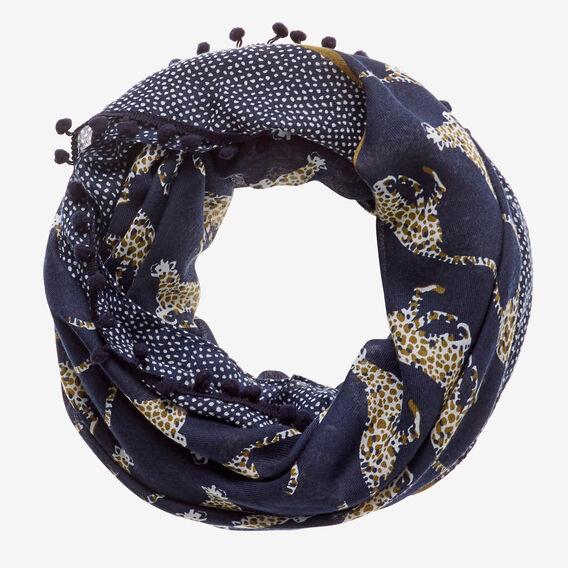 Cheetah Print Snood  INK BLUE  hi-res