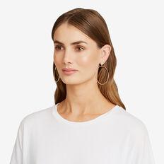 Hoop Stud Earrings  GOLD  hi-res
