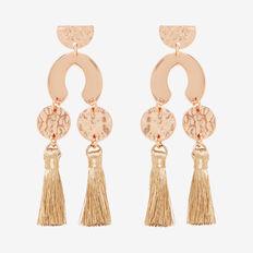 Abstract Tassel Earrings  ROSE GOLD  hi-res