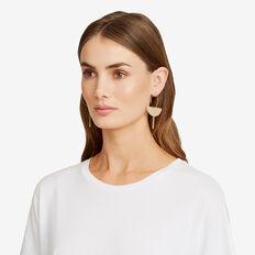 Semi Circle Drop Earrings  GOLD  hi-res