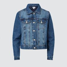 Quilted Denim Jacket  DUSTY BLUE  hi-res
