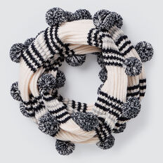 Stripe Rib Snood  CREME  hi-res