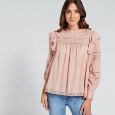 Pretty Lace Top  CLAY PINK  hi-res