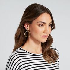 Circle Hoop Earrings  GOLD  hi-res
