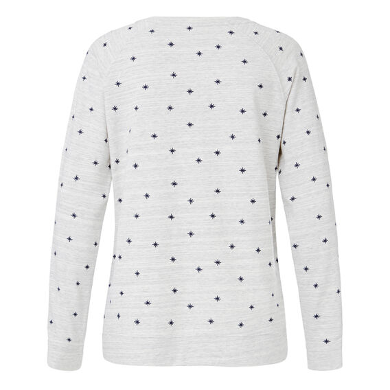 Sparkly Night Embroidered Sweat  LIGHT GREY MARLE  hi-res